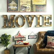 5 themed wall art room wall decor media art best theater ideas on home