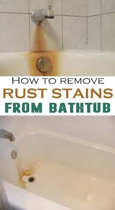 how to clean a yellow stained bathtub ideas