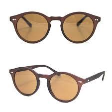 Sunglasses London Design London Design Suneyeglasses Matt Brown Oval Retro Hipster