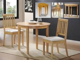 Rubberwood Kitchen Table Lunar Extending Solid Rubberwood Dining Table Plus 2 Chairs