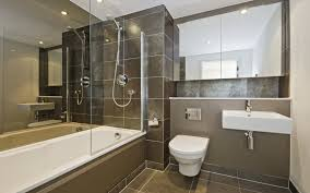Jacuzzi Shower Combination Captivating Modern Bathroom Design With Brown Tiles Covering Using