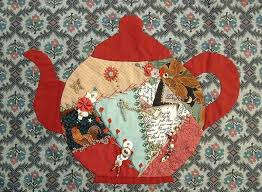 232 best Crazy Quilt Projects images on Pinterest | Stitches, Hand ... & Teapot - Free Crazy Quilt Pattern | ... , Crazy Quilting , Free Crazy Adamdwight.com