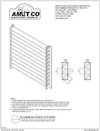 titan design aluminum fence