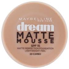 Maybelline Dream Matte Mousse Creamy Natural Light 5 Maybelline Dream Matte Mousse Foundation Cameo 20