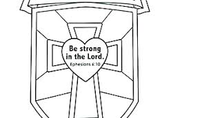 Shield Of Faith Coloring Page Amazing With Additional Pages For Kids