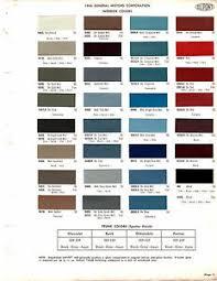 Details About 1968 Chevrolet Corvette Pontiac Oldsmobile Interior 68 Paint Chips Dupont 4