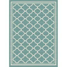 gct1009 5x8 5 x 7 medium aqua moroccan tile indoor outdoor rug garden city