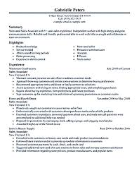 associate skills samples for s resume sample cover letter gallery of s associate resume
