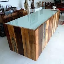 desk solid wood reception desk diy reclaimed wood reception desk custom made 11 assorted reclaimed