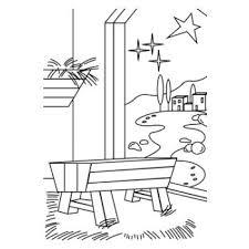 Kerst Kribbe In Stal Download De Kleurplaat Op Wwwdichter Bijnl