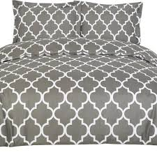 duvet covers queen grey 3 piece set duvet cover 2 pillow shams hotel quality brushed microfiber by utopia bedding