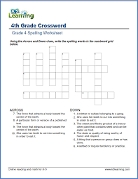fourth grade spelling worksheets | K5 Learning