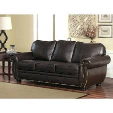 abbyson leather sofa top grain leather sofa