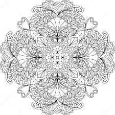 25 Bladeren Kleurplaten Mandala Bloemen Mandala Kleurplaat Voor