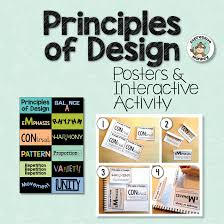 Elements And Principles Of Design Activities Principles Of Design Posters Interactive Activities