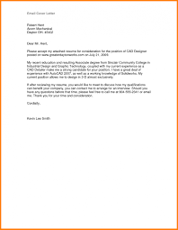 9 Email Cover Letter Sample How To Make A Cv Brief Email Cover For