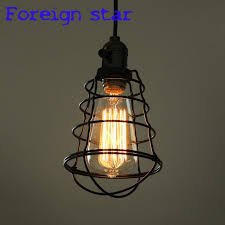 whole retro guard wire cafe loft droplight fixture iron cage pendant light hanging ing metal frame lamp antique style lighting hanging lamp ceiling