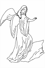 Small Picture Free Printable Cheerful Angel Coloring Pages Online God And The