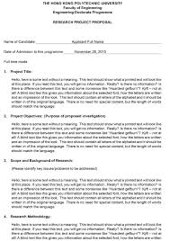 Example Of Project Design Research Design Proposal Example Paper Choose From Templates