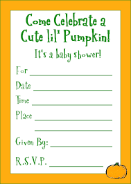 How To Make A Baby Shower Invitation On Microsoft Word Inspiration Here Is A Cute Lil' Pumpkin Baby Shower Invitation For A Halloween