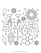 Prints on a full size sheet of paper. Summer Coloring Pages Free Printable Pdf From Primarygames
