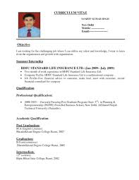 Resume Format For India Throughout Indian Student Sample New