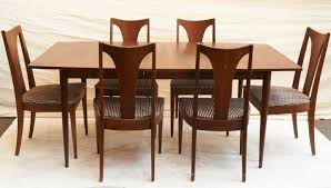 mid century modern dining room furniture. Vintage Broyhill Saga Walnut Dining Table Six Chairs Mid Century Modern Room Furniture