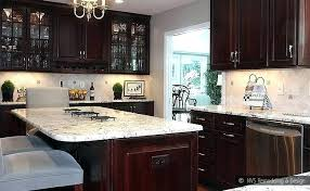 brown kitchen cabinets wonderful for dark stunning home design ideas with white countertops wi brown cabinets with white