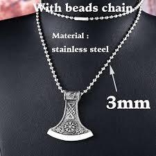 <b>Vikings</b> - <b>Stainless Steel Hammer</b> Pendant Necklace Viking Man ...