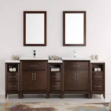 com fresca cambridge 84 antique coffee double sink traditional bathroom vanity with mirrors kitchen dining