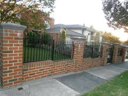 wrought iron fence brick. Brick And Wrought Iron Fence Pictures Gallery Wall Designs