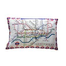 London Bedroom Accessories London Underground Map Cushion Pillow Metro Subway Tourist