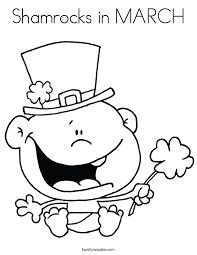 Small Picture Shamrocks in MARCH Coloring Page Twisty Noodle