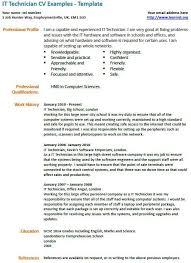 It Technician Cv Example Cv Cv Examples Resume Engineering Resume
