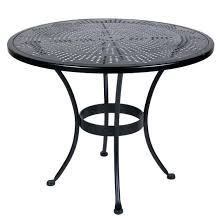 36 inch round dining table ow lee bistro inch round stamped metal dining table round dining