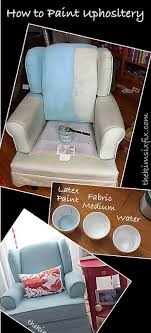 fabric paint for furnitureHow to Paint Upholstery Latex Paint and Fabric Medium  The Kim