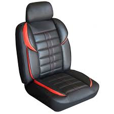 altitude leather look seat covers black
