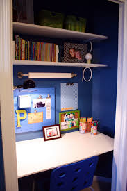 remove everything from your closet and replace it with a desk or sewing area for a closet office