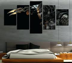 5 pieces canvas prints predator alien painting wall art panels wall art panels aluminium wall art  on aluminium wall art panels uk with absolutely design wooden wall art panels with magnificent ideas wall