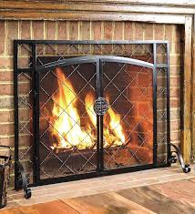 Pleasant Hearth Ascot Small Glass Fireplace Doors AT1000 At The Home Depot Fireplace Doors