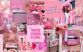 This photo wall kit includes 40 4x6 prints of images that scream baddie, pink, vintage, and boujee! Pink Aesthetic Baddie Wallpaper Laptop Novocom Top