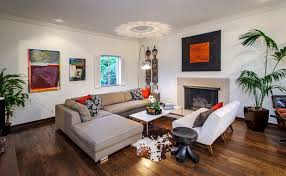 living room ideas with cowhide rug. l shaped living room with fireplace and cowhide rug also wood flooring ideas using most popular color schemes