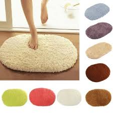 absorbent soft fluffy carpet bathroom floor shower mat anti slip carpet multicolor choices