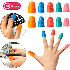 Tippi Micro Gel Grips Size Chart 20 Pieces Rubber Fingers Tip Pads Grips For Money Counting Collating Writing Sorting Task Hot Glue And Sport Games Thick Reusable Protector Assorted