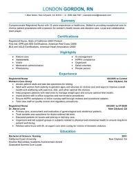 Nurse Resume Sample Nice Sample Resume For Registered Nurse Free