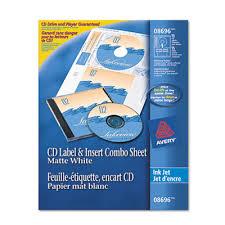 Avery 8942 Avery 8696 Cd Dvd Label Insert Combo Sheets