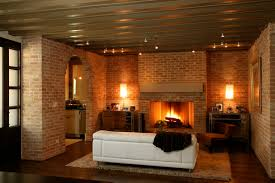 modern living room with brick fireplace. Modern Living Room With Brick Fireplace Contemporary On Throughout Bridlepath 15