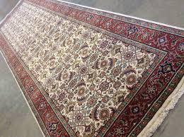 details about 2 7 x 8 1 ivory rust herati bijar persian oriental wool rug runner handmade