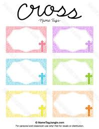 free printable cross name tags the template can also be used for creating items