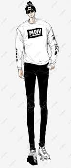 無料ダウンロードのためのカッコイイ白衣の男の子イラストデザイン 男性
